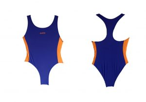 Lycra  Royal Blue Orange
